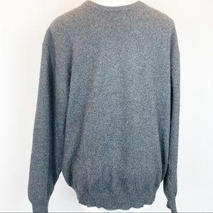 Cashmere Alan Flusser crew neck sweater